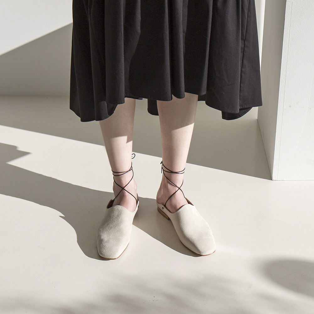 Wave slipper shoes_Ivory